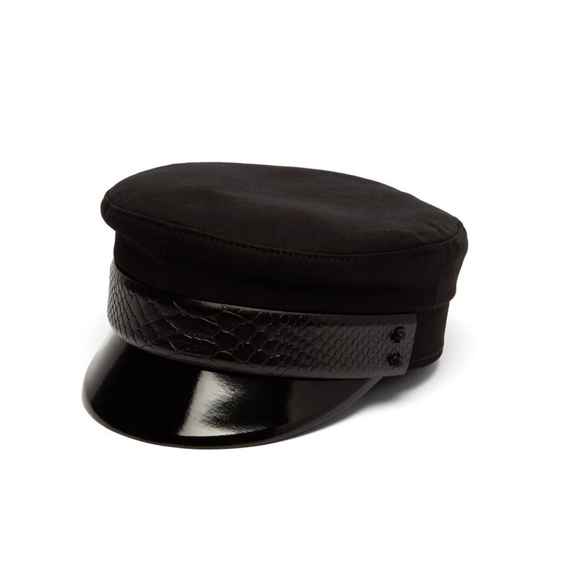 Baker Boy Cap with Leather