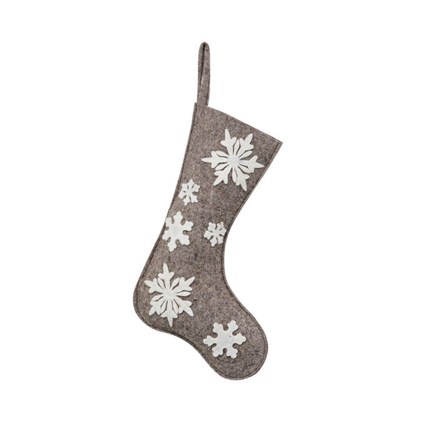 Applique Snowflake Stocking
