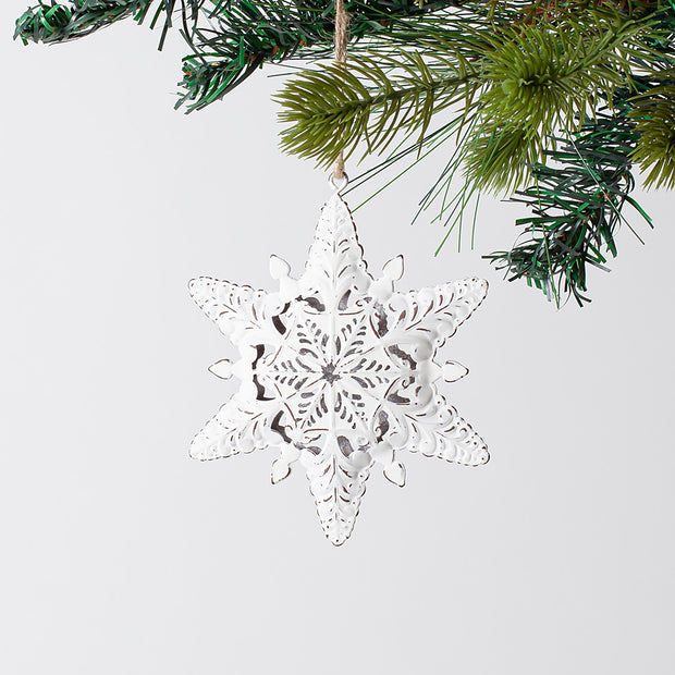 Metal Snowflake Ornament Set
