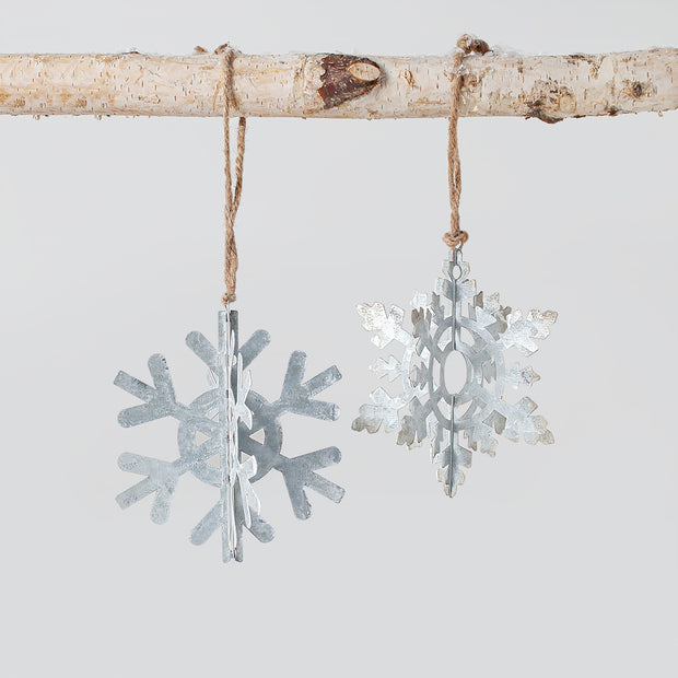 3D Snowflake Ornament Set