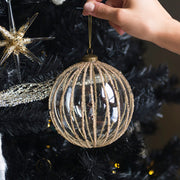 Gold Stripe Ornament