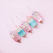 Sparkling Popsicle Ornament Set