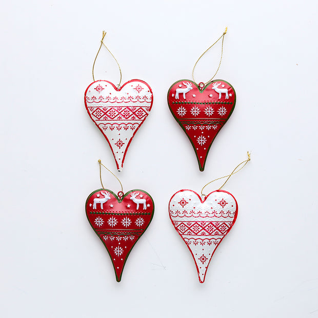 Nordic Heart Ornament Set