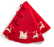 Santa's Sleigh Tree Skirt