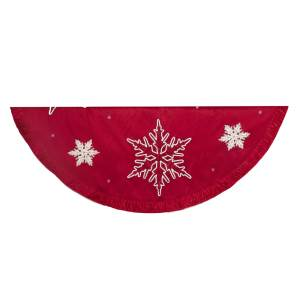 Embroidered Snowflake Tree Skirt