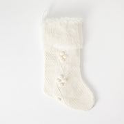 Fur Trim Knit Stocking