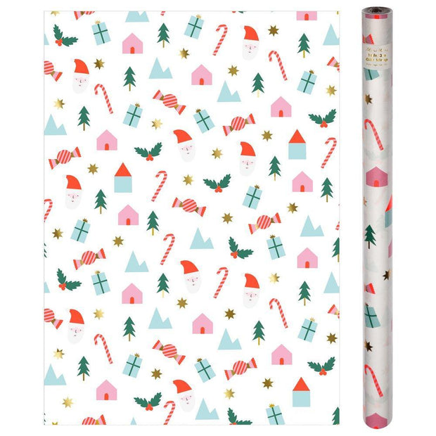 Festive Icons Gift Wrap Roll
