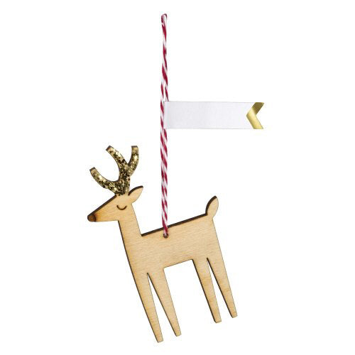 Wooden Reindeer Gift Tags