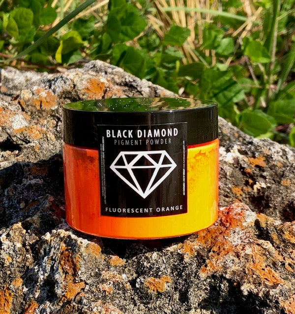 """FLUORESCENT ORANGE"" 42g/1.5oz - Black Diamond Pigments"