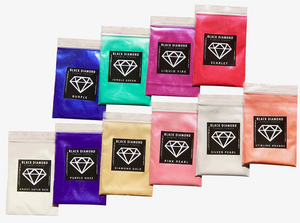 VARIETY PACK 3 (10 COLORS) mica powder pigment packs Black Diamond Pigments® - Black Diamond Pigments