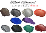 Load image into Gallery viewer, VARIETY PACK 12 (10 COLORS) mica powder pigment variety packs  Black Diamond Pigments® - Black Diamond Pigments