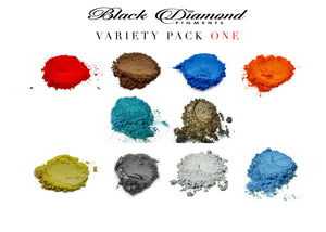 VARIETY PACK 1 (10 COLORS) mica powder pigment packs Black Diamond Pigments® - Black Diamond Pigments