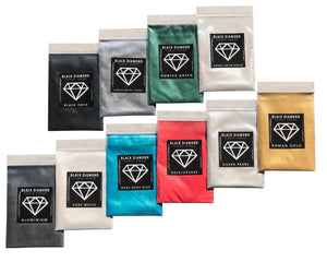 VARIETY PACK 2 (10 COLORS) mica powder pigment packs Black Diamond Pigments® - Black Diamond Pigments