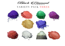 Load image into Gallery viewer, VARIETY PACK 3 (10 COLORS) mica powder pigment packs Black Diamond Pigments® - Black Diamond Pigments