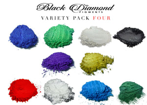 VARIETY PACK 4 (10 COLORS) mica powder pigment variety pack Black Diamond Pigments® - Black Diamond Pigments