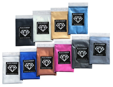 VARIETY PACK 6 (10 COLORS) mica powder pigment variety packs  Black Diamond Pigments® - Black Diamond Pigments