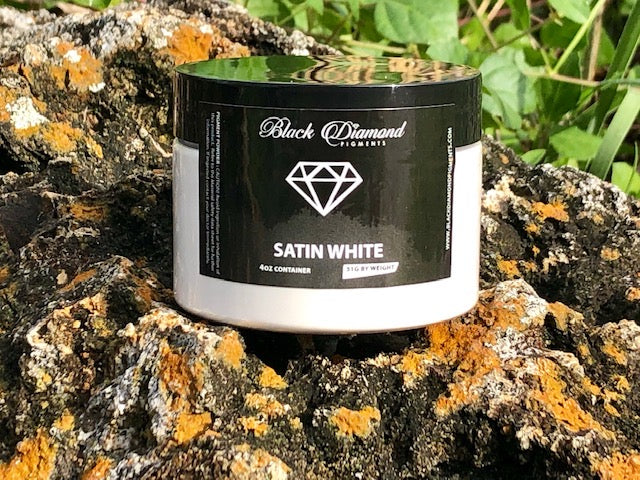 """SATIN WHITE"" 51g/1.8oz - Black Diamond Pigments"