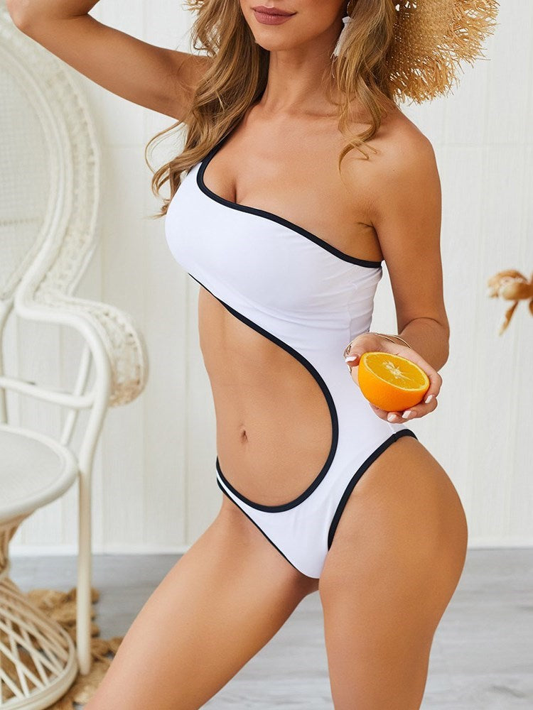 Asymmetric One Piece Sexy Swimwear