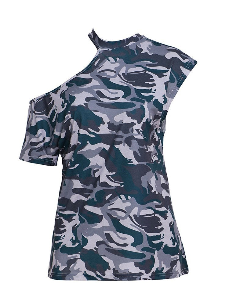 Camouflage Standard Short Sleeve Summer Loose T-Shirt