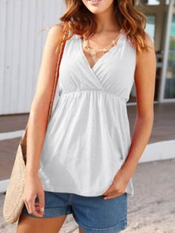 Hollow I-Shaped Summer Mid-Length Tank Top
