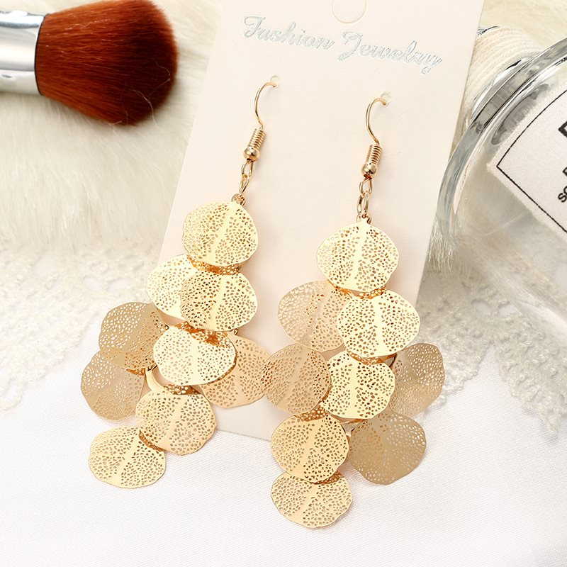 Alloy Geometric E-Plating Holiday Earrings