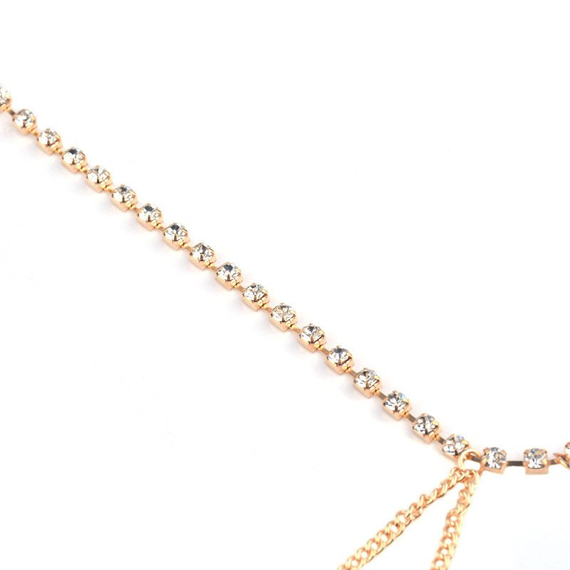 European Diamante Plain Anklets Anklets