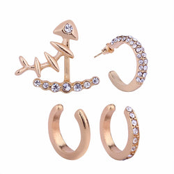 Diamante Alloy Geometric Wedding Earrings