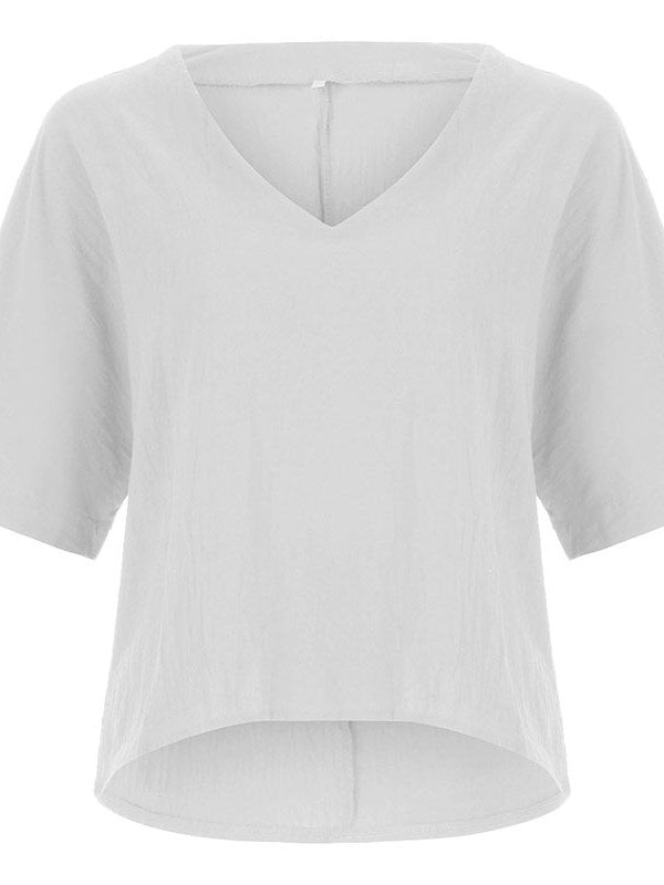 Plain Standard Half Sleeve Casual Summer T-Shirt