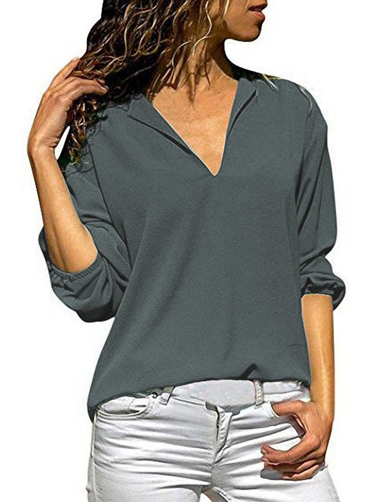Plain Mid-Length Three-Quarter Sleeve Spring Fashion T-Shirt
