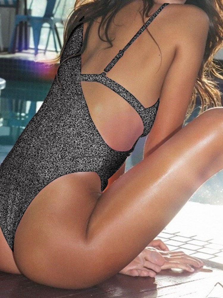 Western One Piece Asymmetric Swimwear