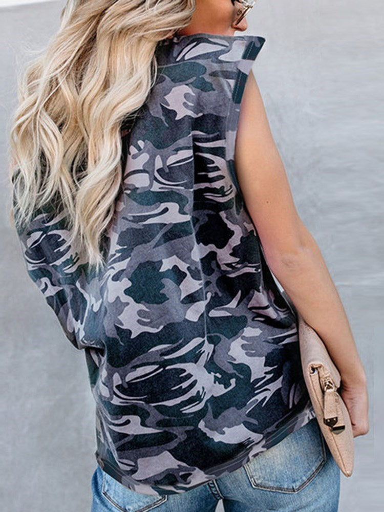 Camouflage Standard Short Sleeve Loose Casual T-Shirt