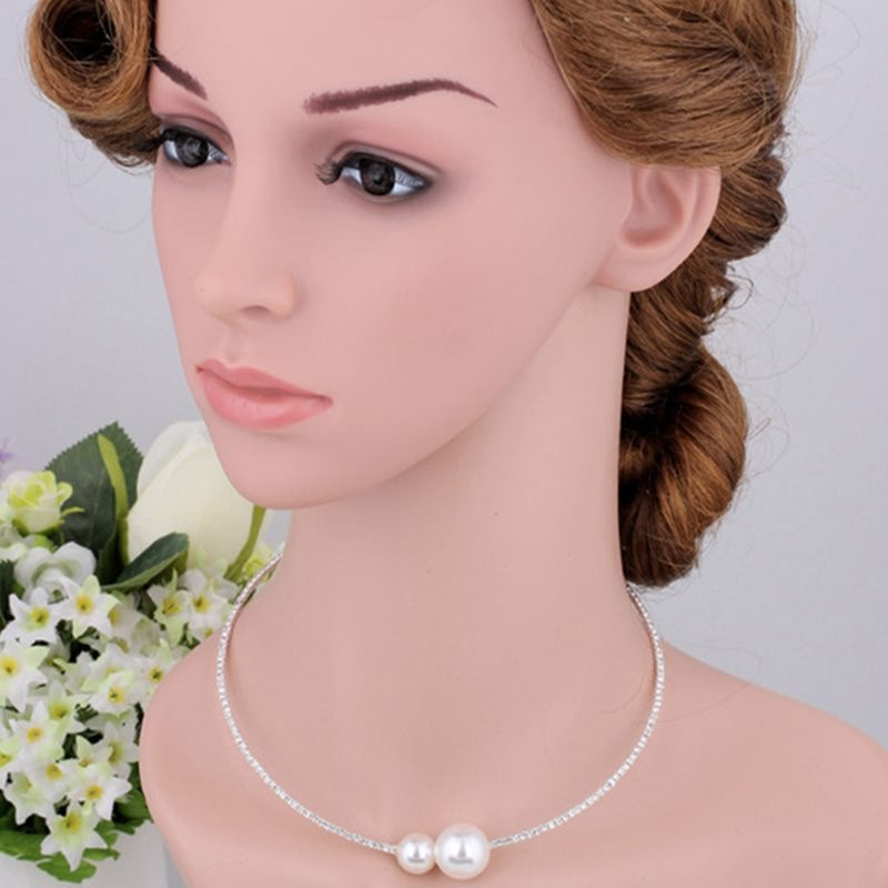 E-Plating Romantic Plain Prom Jewelry Sets