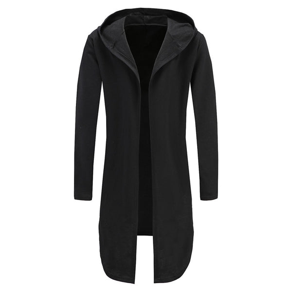 PlusMill Hoodie Men Plus Size Black Cardigan Men