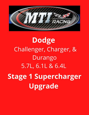 MTI Racing Dodge Charger, Challenger Stage 1 Supercharger Upgrade Package
