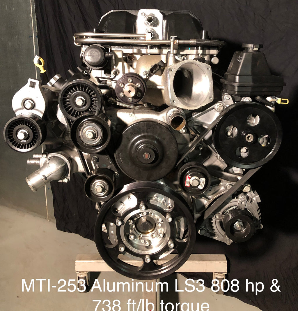 MTI Racing #253 LS3 Aluminum Engine  808hp & 738 ft/lb of Torque