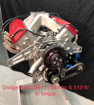 MTI Racing #CGR-111 Dodge R5 Engine  824hp & 510 ft/lb of Torque