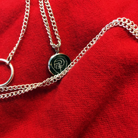 PREY FOR DAY SIGIL necklace (silver)