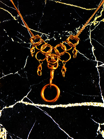 AVRABOROS gold waterfall necklace