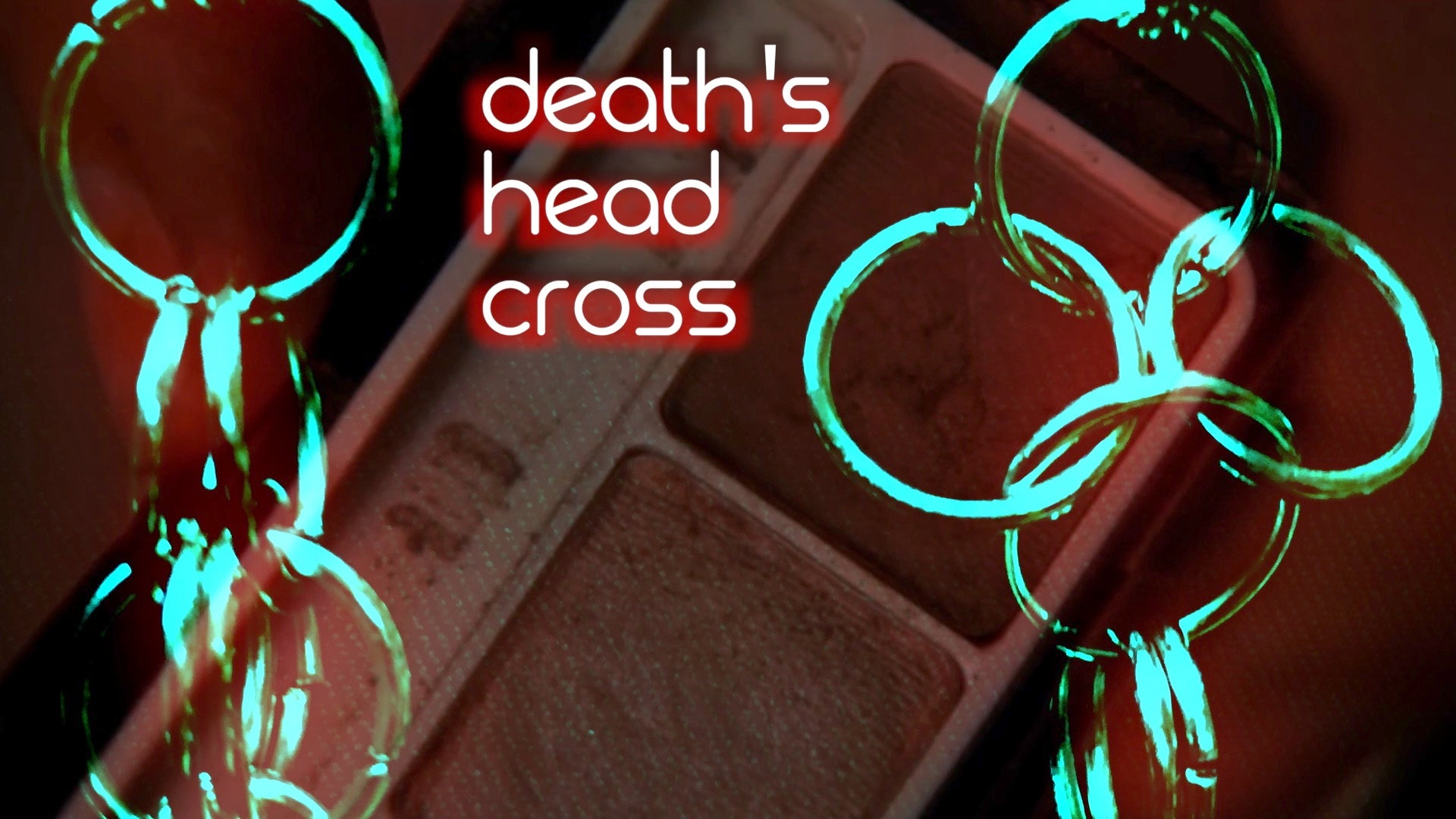 DEATH'S HEAD CROSS earrings