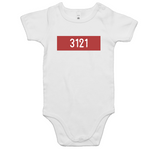 '3121 Red Stripe' Unisex Baby Romper
