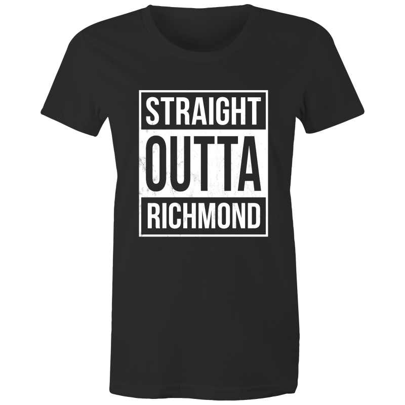 'Straight Outta Richmond' Women's Crew Tee
