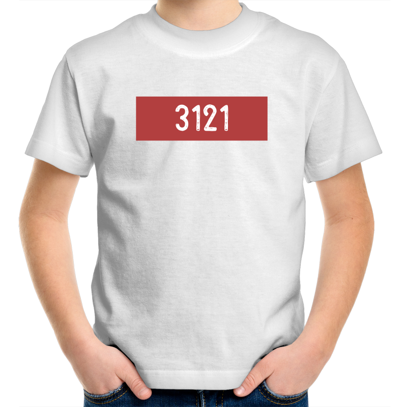 '3121 Red Stripe' Unisex Kid's Crew Tee