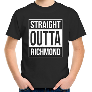 'Straight Outta Richmond' Unisex Kid's Crew Tee