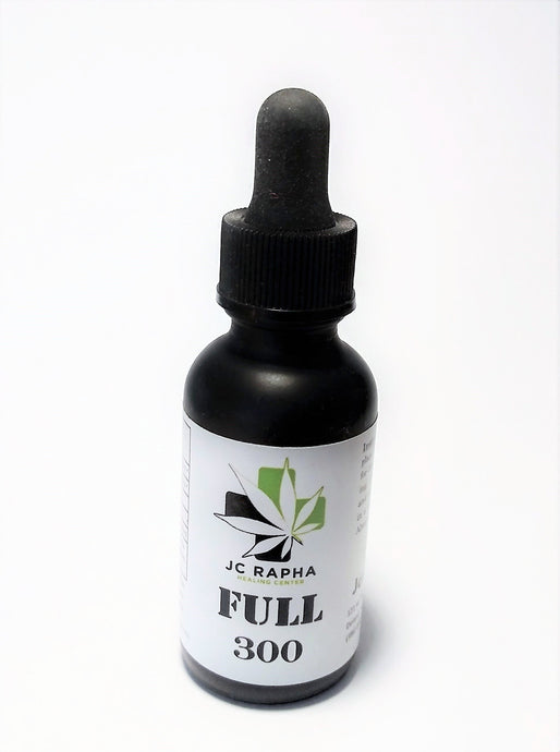 JC Rapha FULL 300 Strength Full-Spectrum Hemp Extract Oil Tincture, Original, 30mL