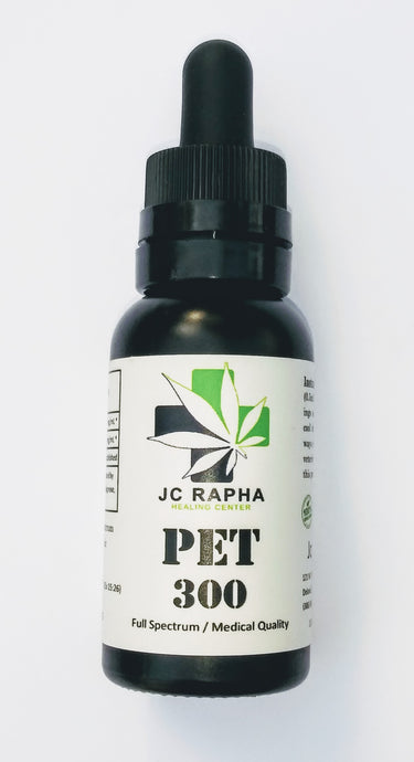 JC Rapha PET 300 Strength Full-Spectrum Hemp Extract Oil Tincture, Original, 30mL