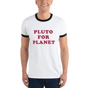 """Pluto for Planet"" Ringer T-shirt"