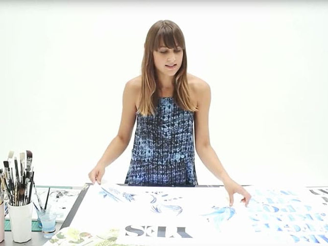 "Mixing Typography and Illustration Tutorial with Gemma O'Brien for Volcom's ""School of Cool"""