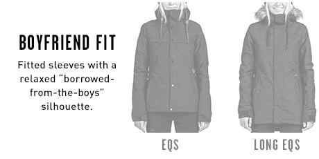 Womens Snow Jacket Boyfriend Fits