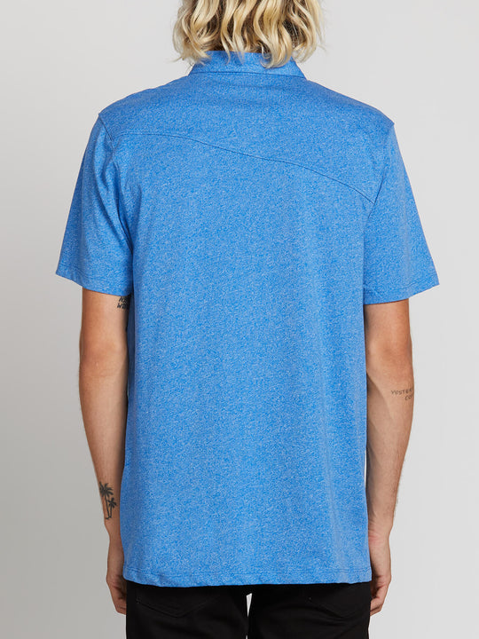 Wowzer Polo In Free Blue, Back View