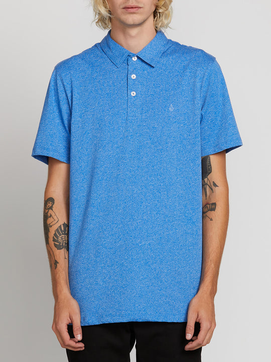Wowzer Polo In Free Blue, Front View